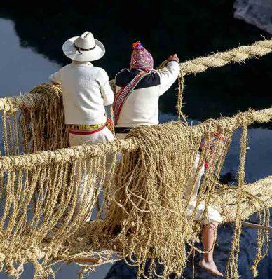 El ultimo puente Inca Qeswachaka